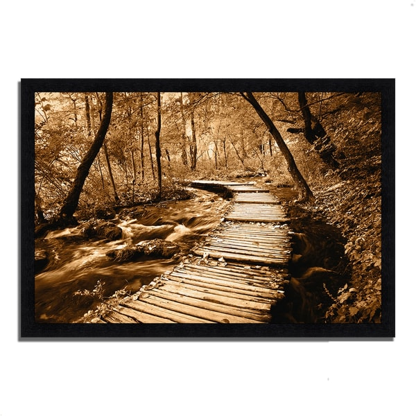 Framed Photograph Print 46 In. x 33 In. Creekside Walk II Multi Color
