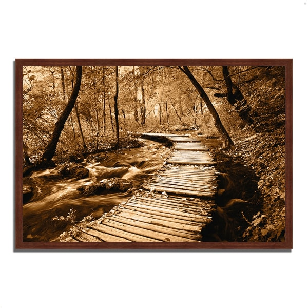 Framed Photograph Print 47 In. x 32 In. Creekside Walk II Multi Color