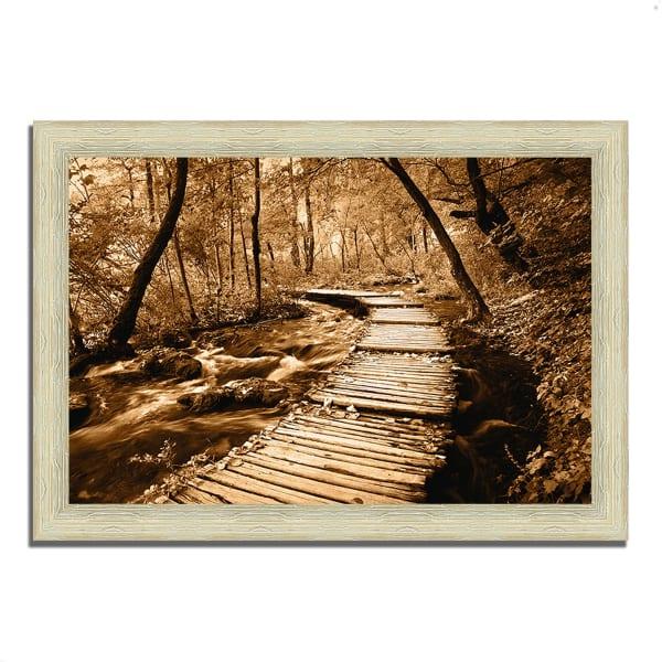 Framed Photograph Print 51 In. x 36 In. Creekside Walk II Multi Color