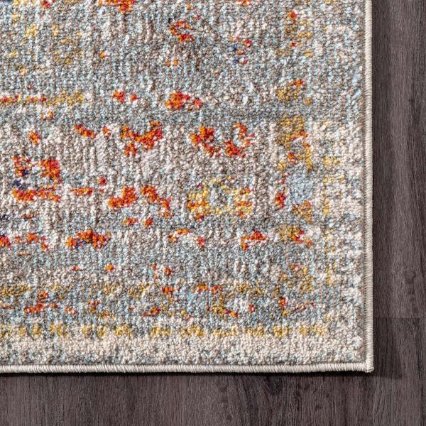 Distressed Persian Sarita 8' x 11' Gray Rug