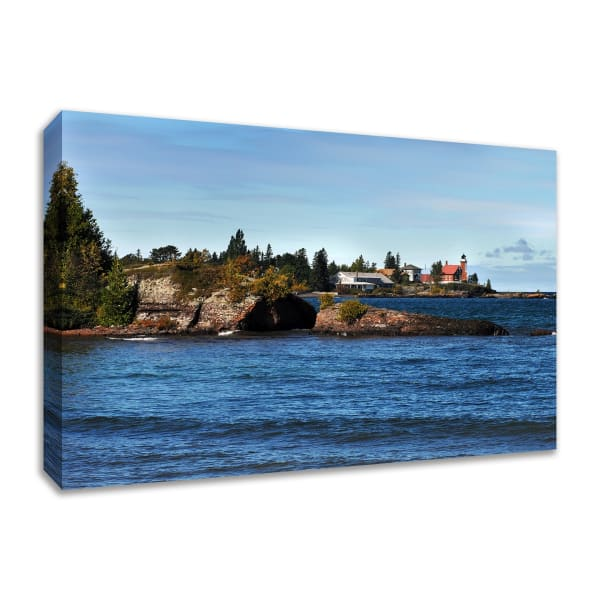 Fine Art Giclee Print on Gallery Wrap Canvas 45 In. x 30 In. Eagle Harbor Lighthouse Multi Color