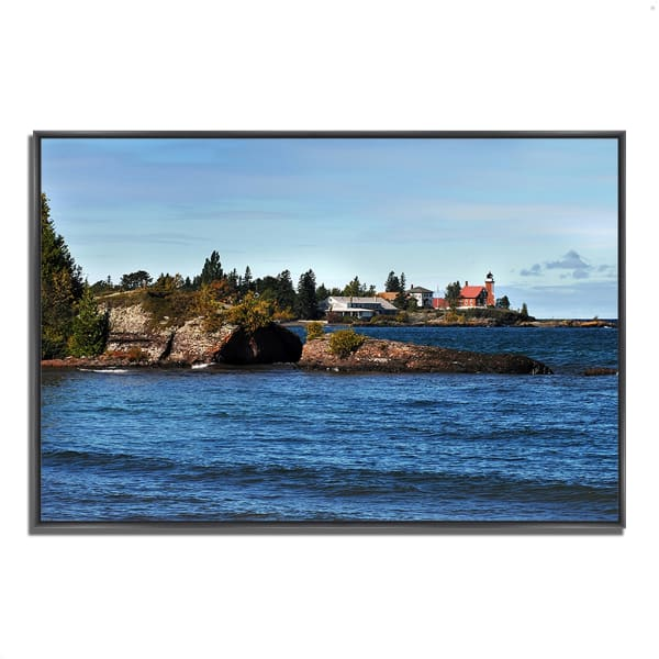 Fine Art Giclee Print on Gallery Wrap Canvas 38 In. x 26 In. Eagle Harbor Lighthouse Multi Color