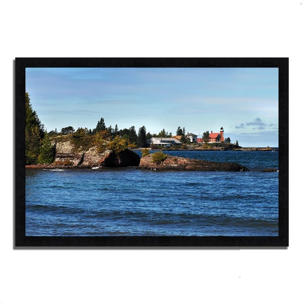 Framed Photograph Print 46 In. x 33 In. Eagle Harbor Lighthouse Multi Color