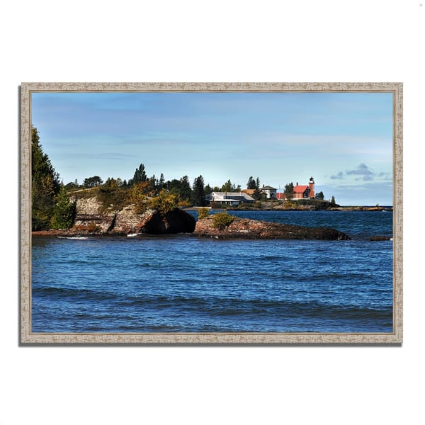 Fine Art Giclee Print on Gallery Wrap Canvas 47 In. x 32 In. Eagle Harbor Lighthouse Multi Color