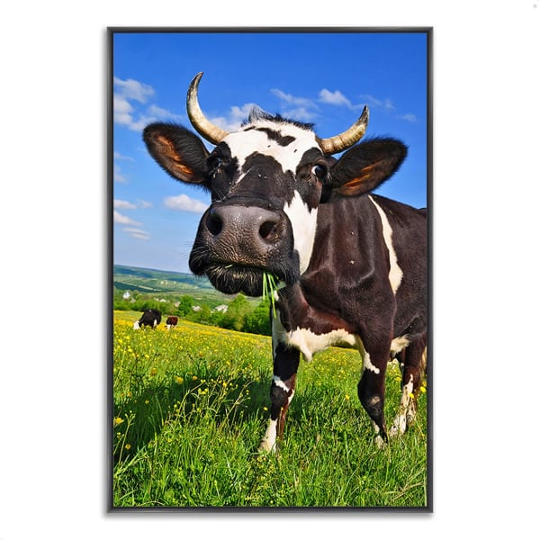 Fine Art Giclee Print on Gallery Wrap Canvas 26 In. x 38 In. It's In The Milk Multi Color