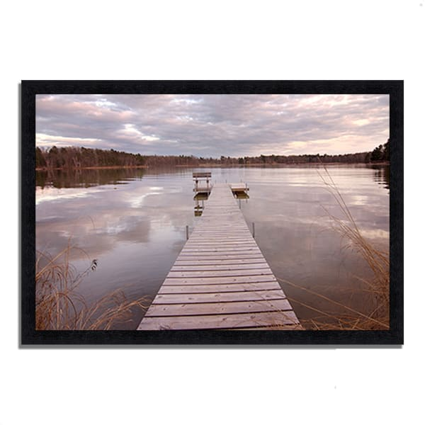 Framed Photograph Print 33 In. x 23 In. Lake Edna Multi Color