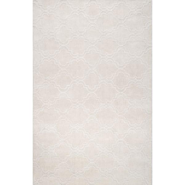 Hand Tufted Wilhelmina 5x8 Cream Wool Rug