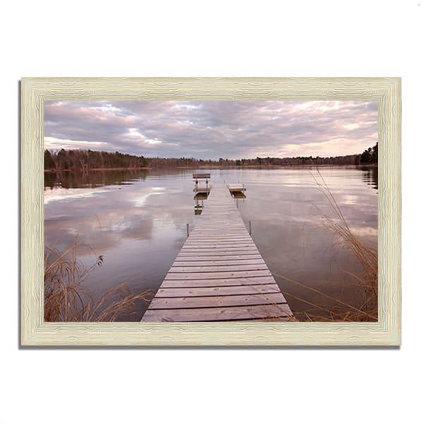Framed Photograph Print 42 In. x 30 In. Lake Edna Multi Color