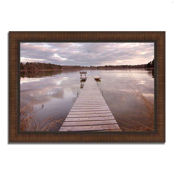 Framed Photograph Print 36 In. x 26 In. Lake Edna Multi Color