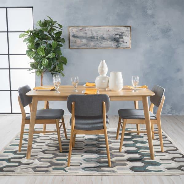 Oak Wood Dining Set