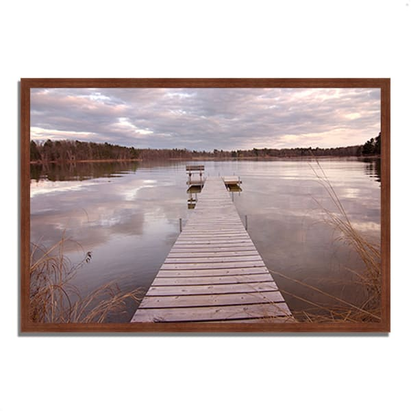 Framed Photograph Print 38 In. x 26 In. Lake Edna Multi Color