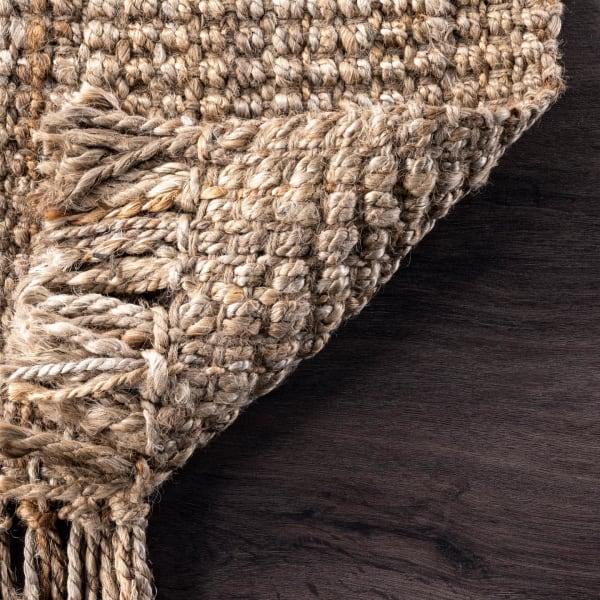 Hand Woven Chunky Loop Jute 8' x 10' Natural Jute Rug