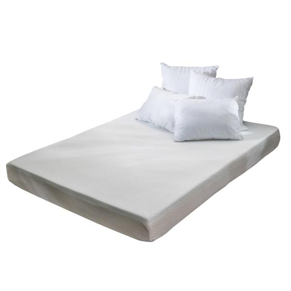 Basic White Memory Foam Twin Mattress