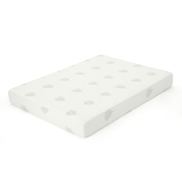 Smooth White Memory Foam Top Queen Mattress