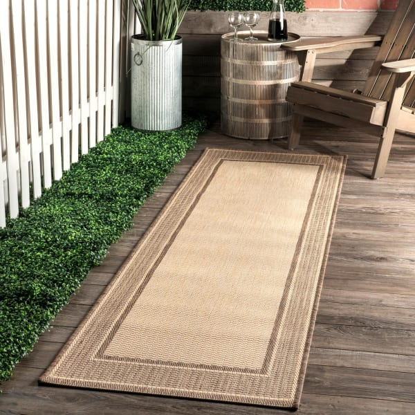 Machine Made Outdoor Gris 8' x 11' Beige Rug