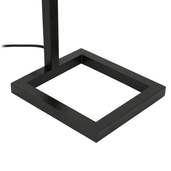 Malva Blackened Bronze Floor Lamp with Seeded Glass Shade