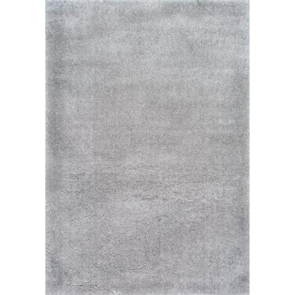 Gynel Cloudy Shag 5' x 8' Silver Rug