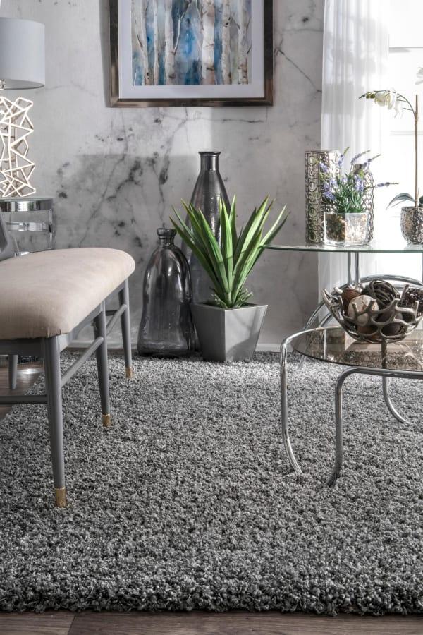 Marleen Plush Shag 8' x 10' Gray Rug