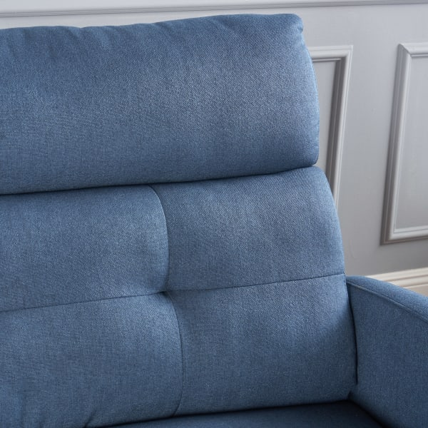 Navy Blue Two Seater Recliner