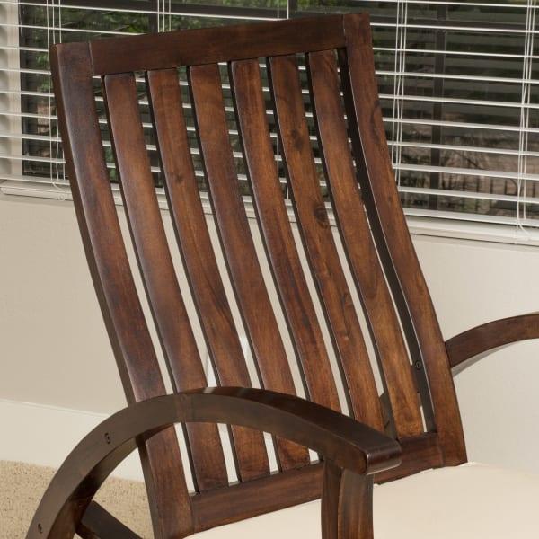Wood Rocking Chair with Cushion