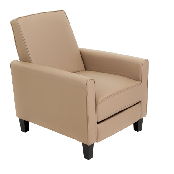 Tan Faux Leather Recliner