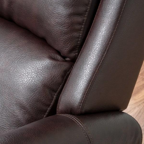 Brown Polyurethane Leather Recliner