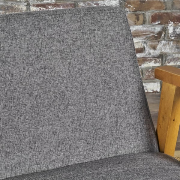 Mid Century Modern Gray Upholstered Rocking Chair