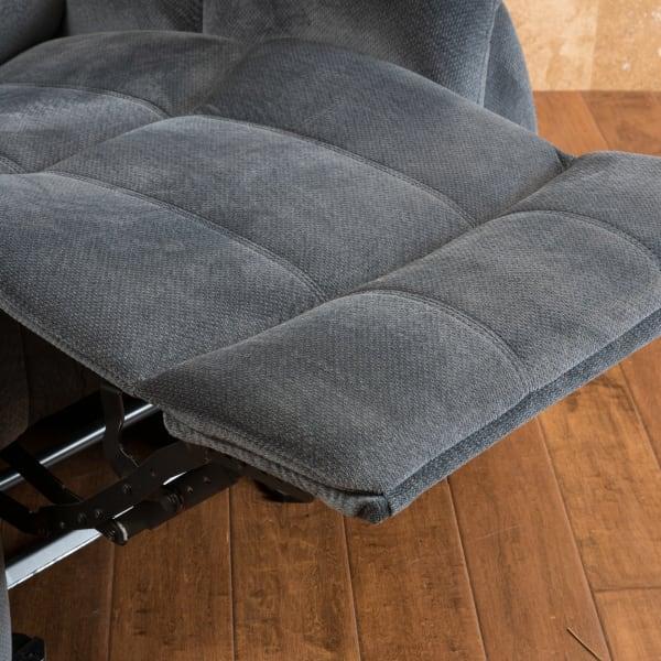 Steel Gray Upholstered Gliding Recliner