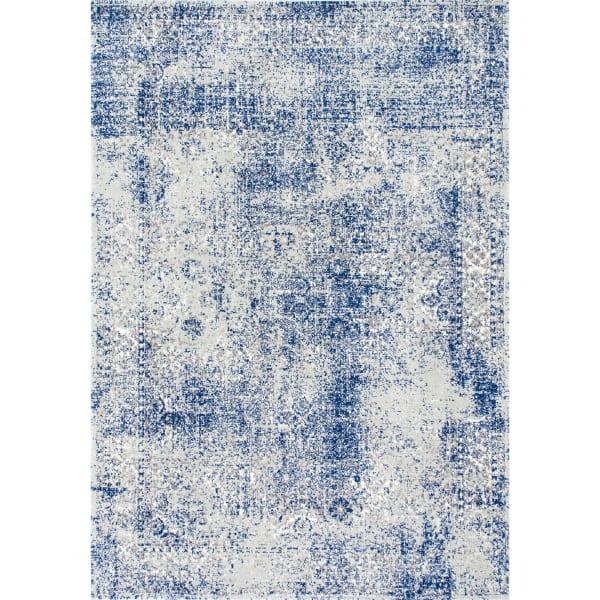 Vintage Willena 7' x 9' Blue Rug