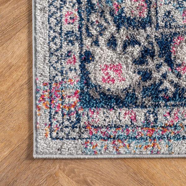 Persian Vintage Raylene 3' x 12' Blue Runner Rug