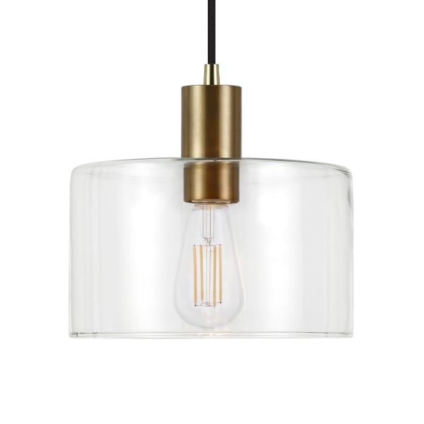 Henri Brass and Clear Glass Pendant