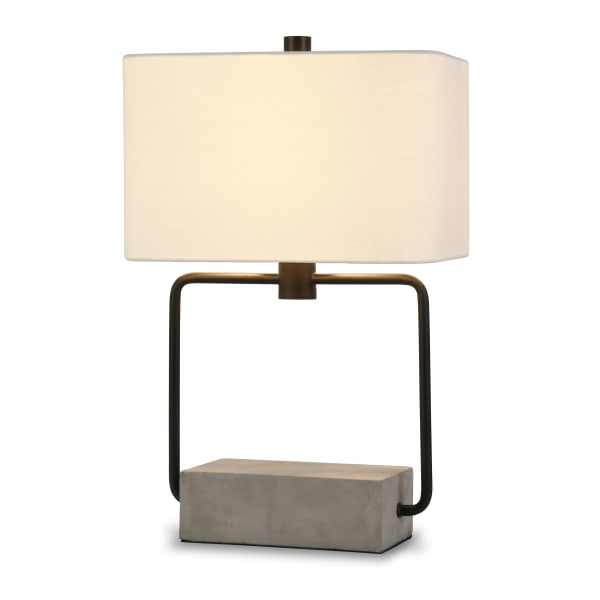 Holden table lamp in blackened bronze and concrete