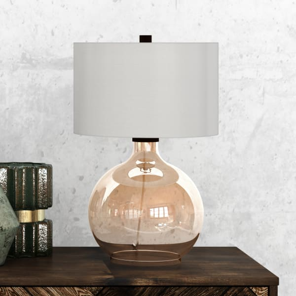 Laelia Gold Luster Glass Table Lamp