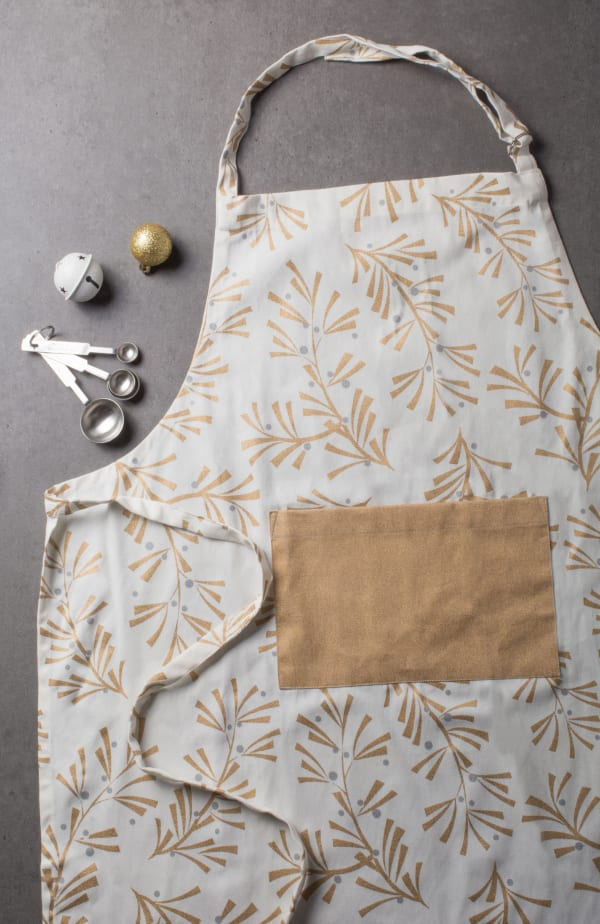 Holly Leaves Apron