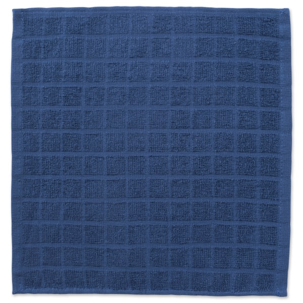 Blue Window Pane Dishcloth Set
