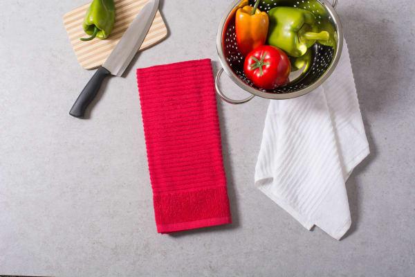 Red & White Assorted Dishtowel Set