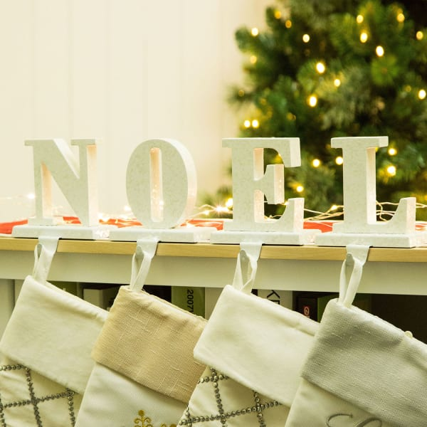 Metal Noel Stocking Holders