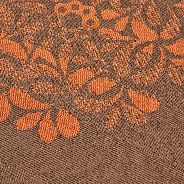 Floral Brown Rug 5'25