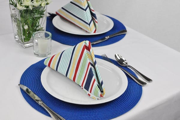 Primary Basic Stripe Cotton Napkin Set