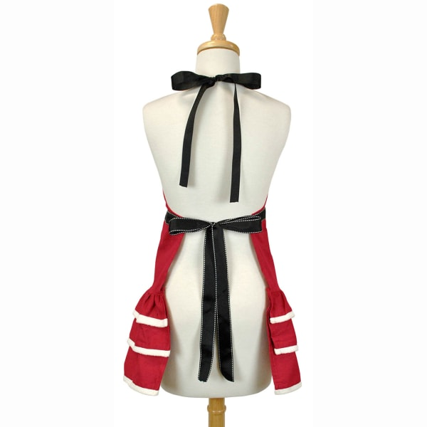 Red Holiday Mrs. Claus Apron