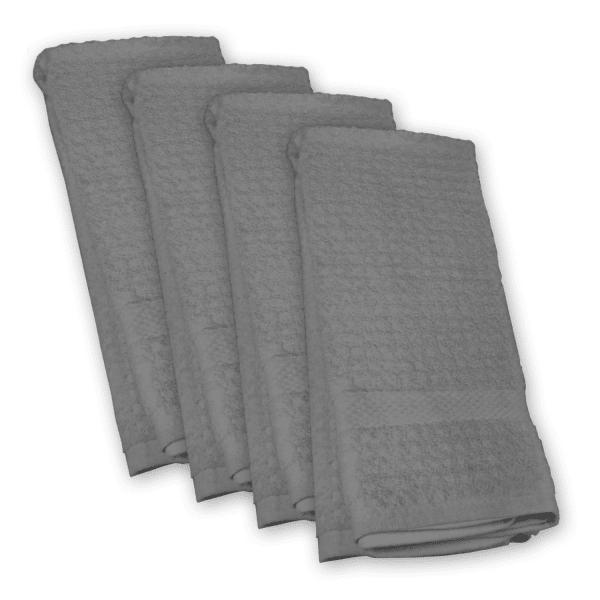 Gray Waffle Dish Towel Set