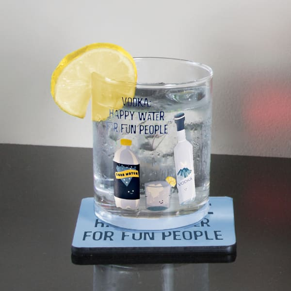 Vodka & Soda Coaster Set of 4