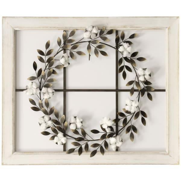 Neutral Wreath Wooden Framed Wall Art