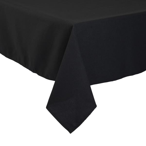 Black Polyester Table Cloth