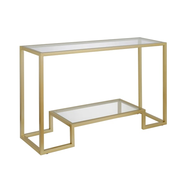 Athena Brass Finish Console Table