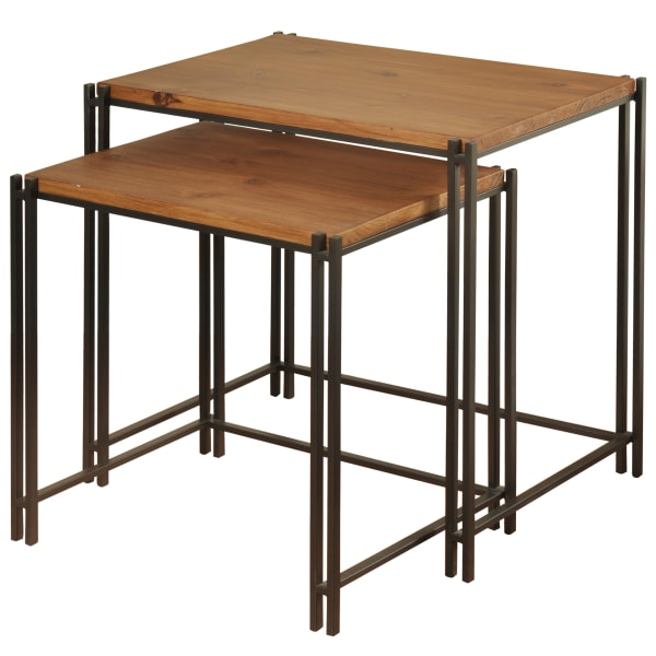 Cherry Wooden Nesting Tables