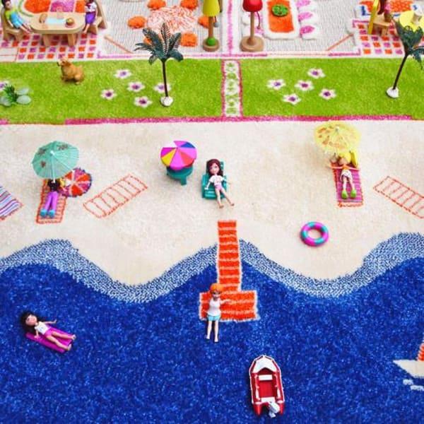 Mini City Multicolor 3D Kids Play Rug 2' x 3'