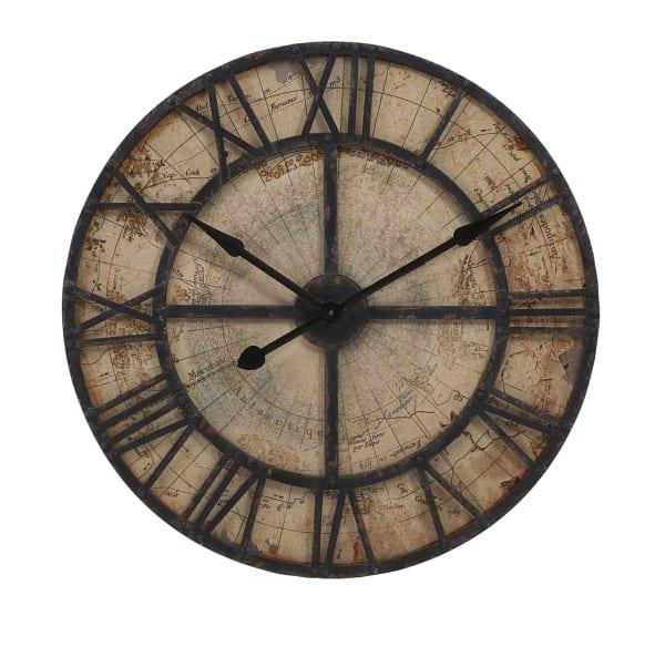 Map Wall Clock