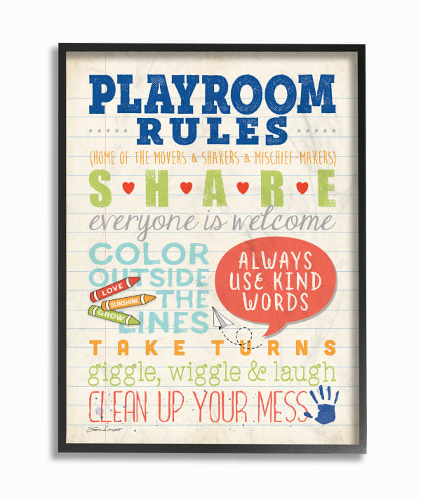 Written Rules Framed Giclee Texturized Art