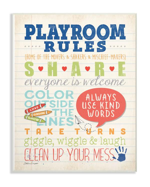 Written Rules Wall Plaque Art